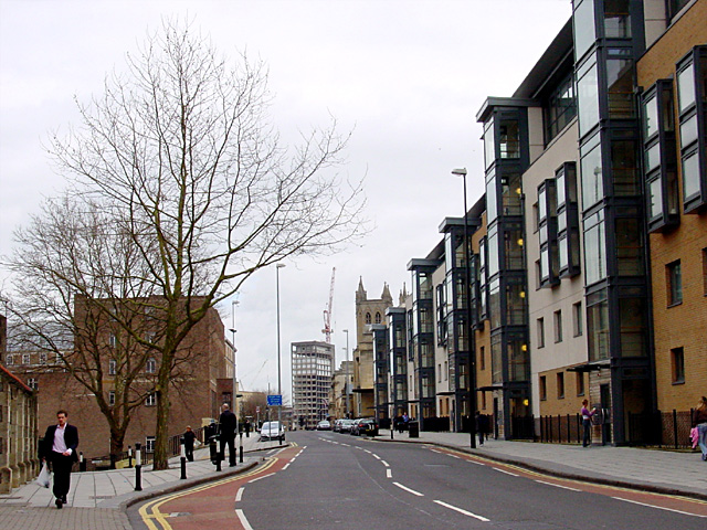 Looking along Deanery Road