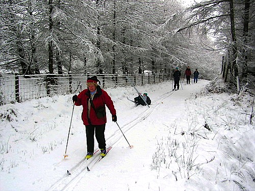 Skiing on the old military road