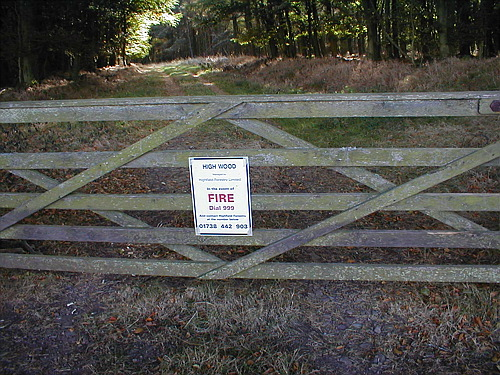 Gate into the High Wood