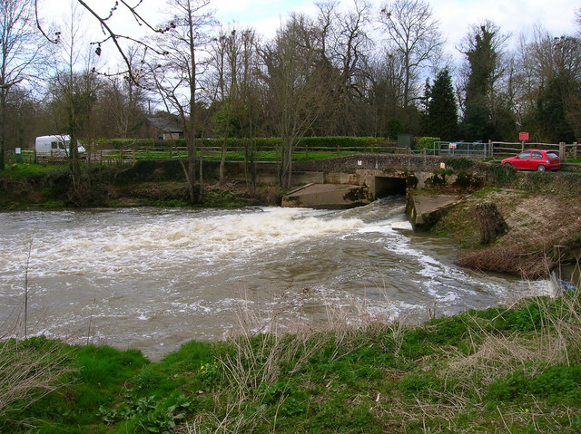 Water exiting the Mill Channel