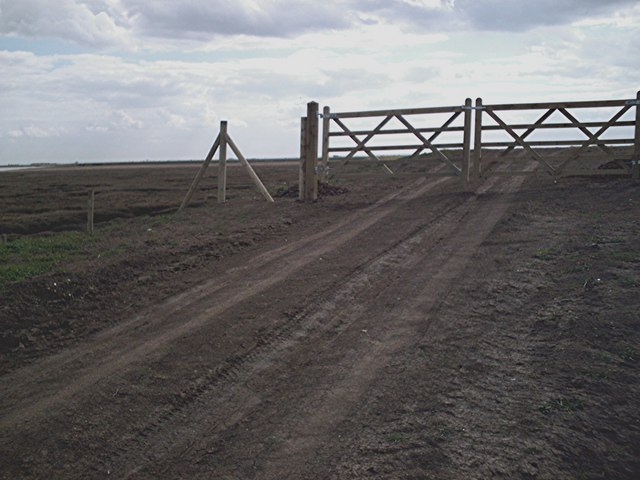 Gates at end of new sea wall