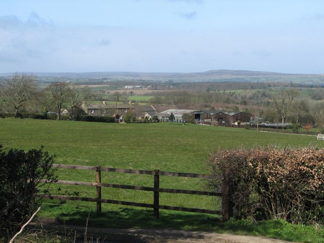 Sun Hill farm looking across towards Bellerby