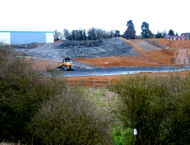 Reshaping the landscape: earthworks north of Kettering.