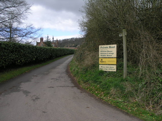 Private Road Public Footpath