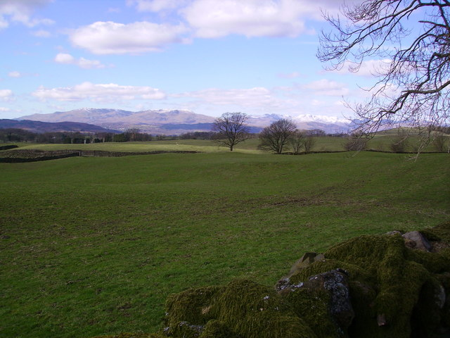 Coniston fells from Ings Road