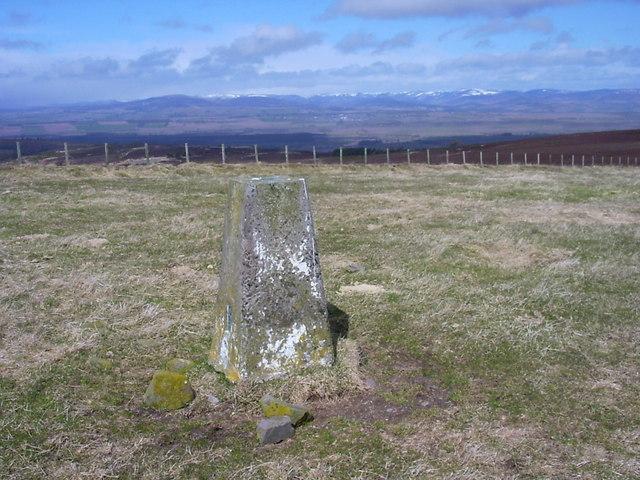 Kincaldrum Hill trig