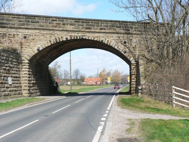 Railway Bridge over A162, Barkston Ash