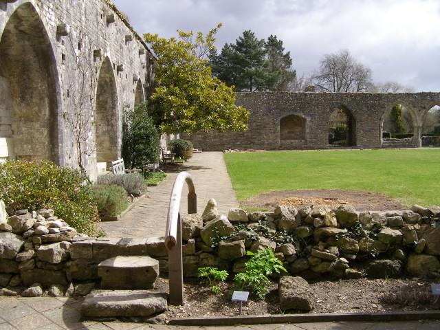 The cloister at Beaulieu Abbey