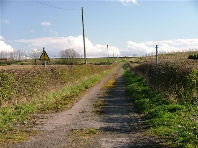 Access road to Redmarshall Reservoirs