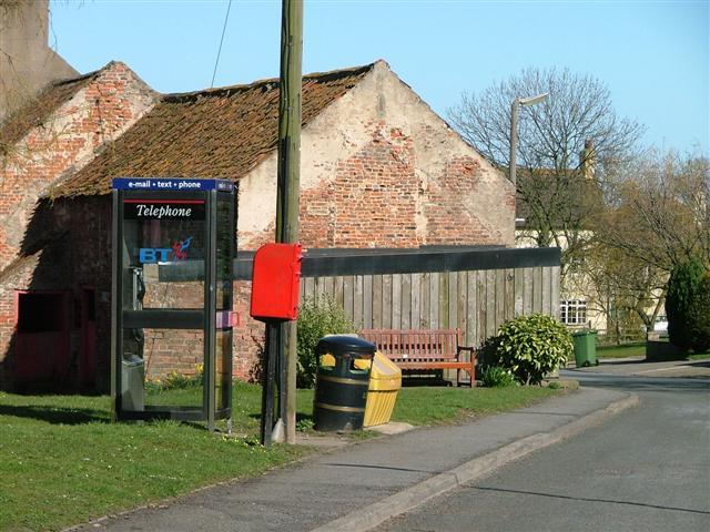 Telephone and Post Box, Redmarshall