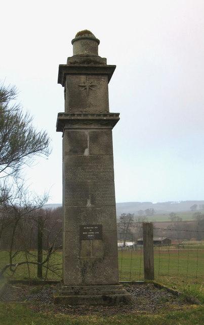 Monument De La Bastie, Near Duns