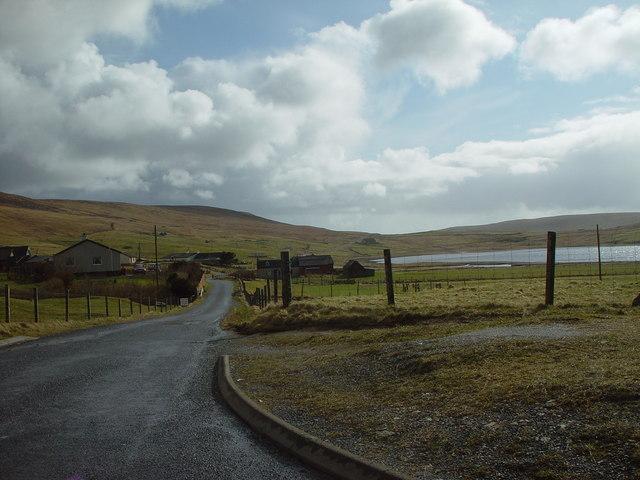 Sandsound road, Tresta, Shetland