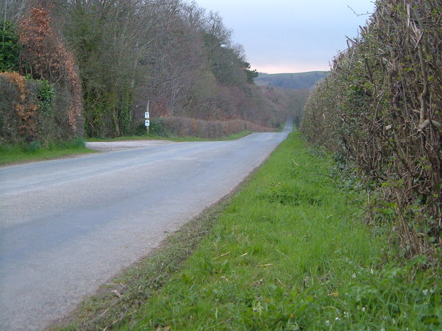 Road across the Bovey Basin