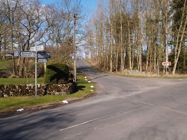 Burnside Crossroads near Slaley