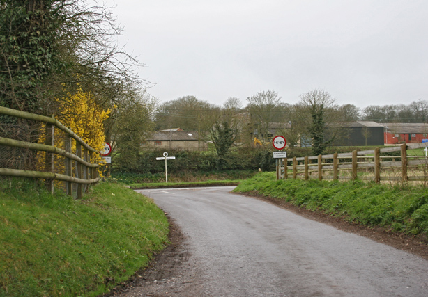 Road junction near Dummer Down Farm