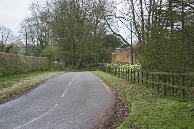 Road near Popham Court Farm