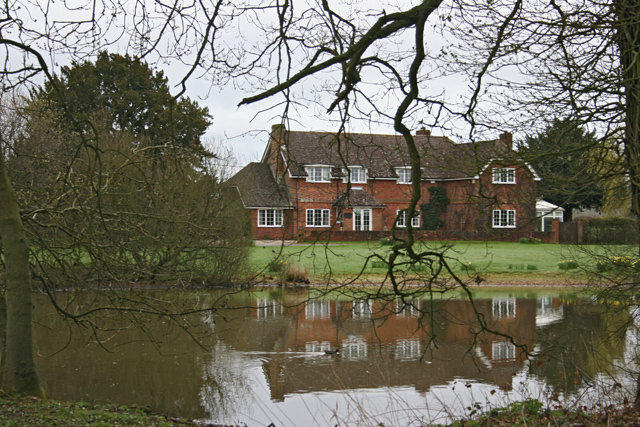 Pond and house - Popham