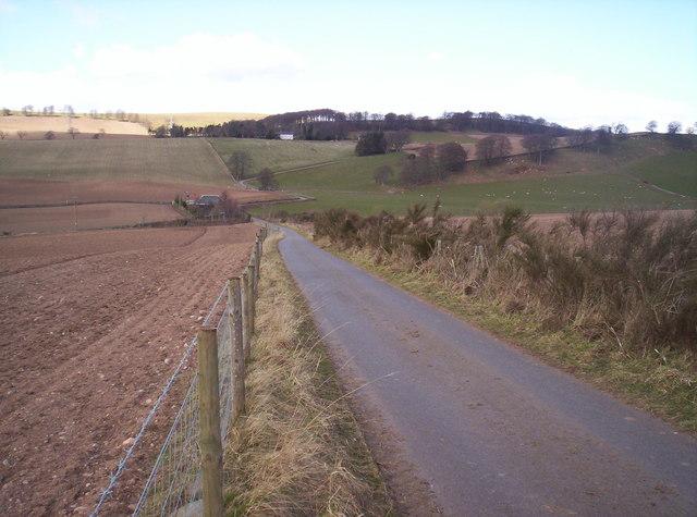 Looking Towards Deuchar Hill from Track to Deuchar Farm