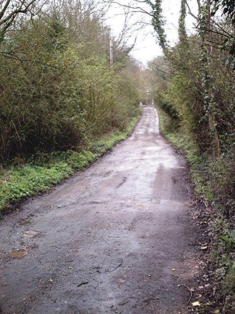 Hockley - Trinity Wood Road from Greensward Lane