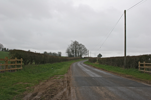 Road south of Preston Grange