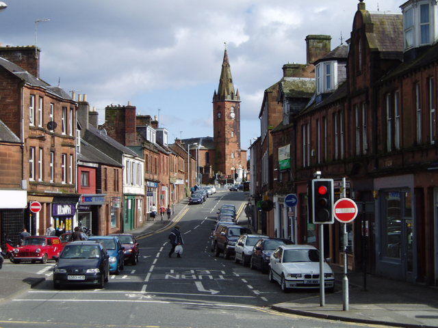 Dumfries, view to St Michael's Church
