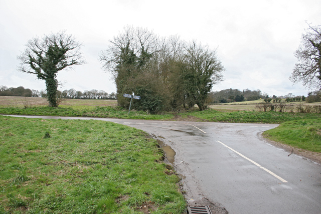 Road junction near Lower Wield