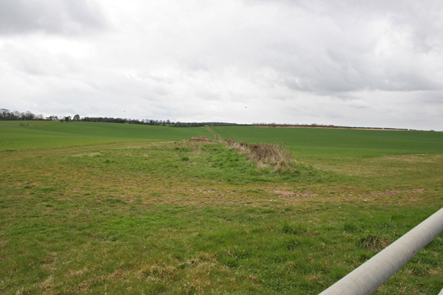 Farmland west of Lower Wield