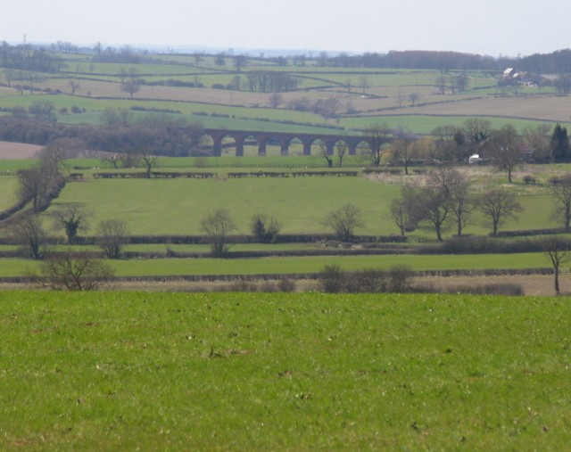 Distant view of John O'Gaunt railway viaduct