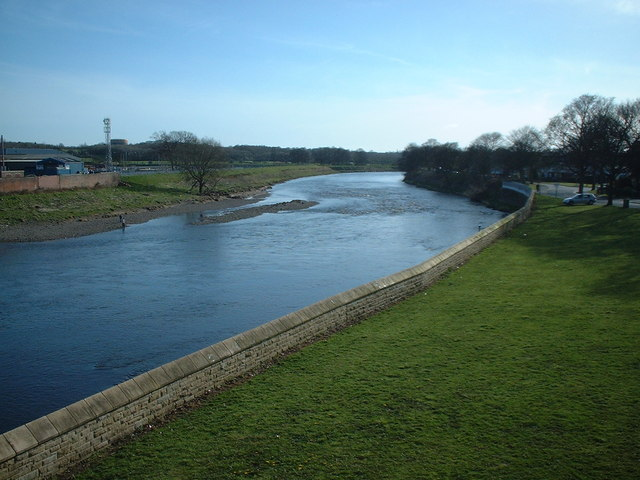 River Ribble downstream from London Road Bridge