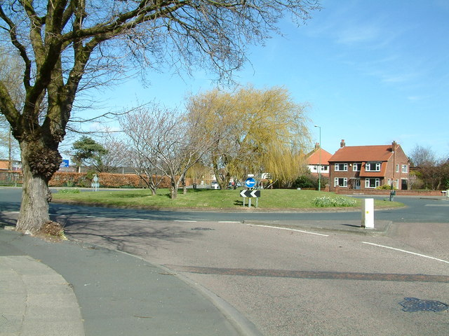 Roundabout in Crosby