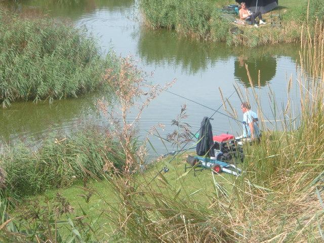 Small Fishing Pond at Base of Sea Wall