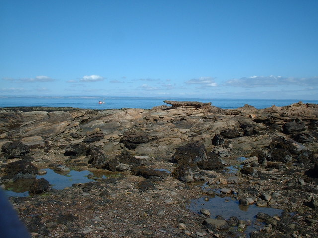 Rock formations at Babbet Ness