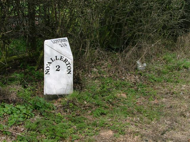 Milepost on the A167