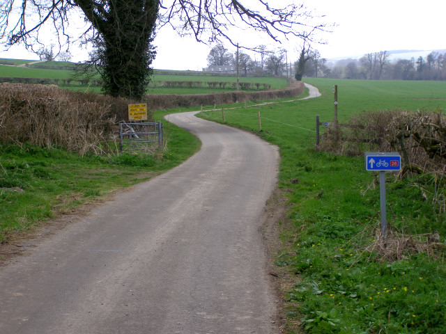 Lane from Muckleford to Littlewood Farm Dairy