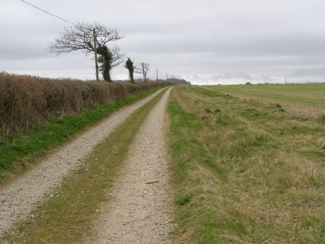 Bridleway track between Higher and Lower Skippet Farms
