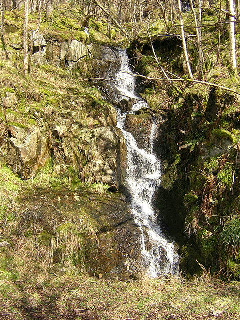 Waterfall Beside West Highland Way