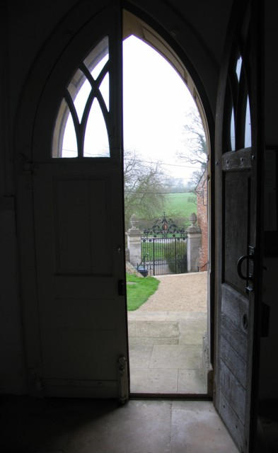 View from West door St John the Baptist King's Norton.