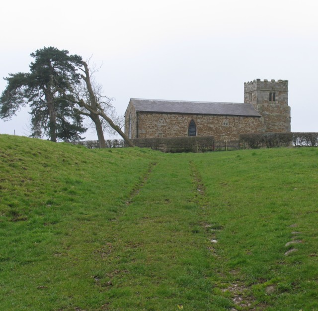 Approach to the church of St Giles Great Stretton