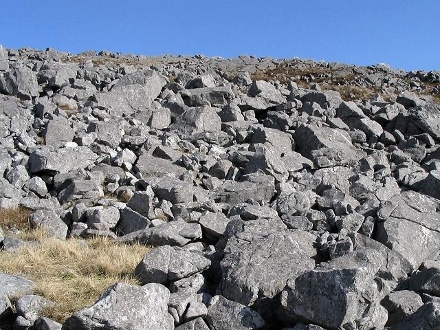 West slope of Garreg Las