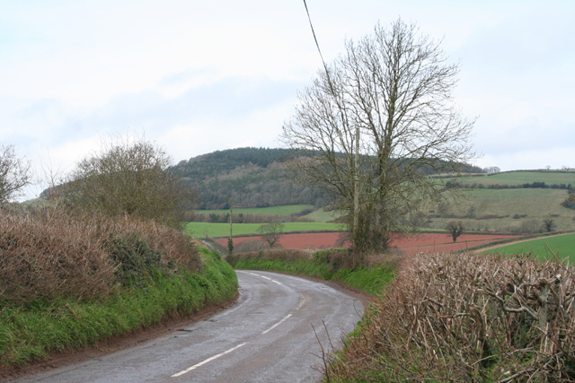 Brompton Ralph: Looking north on the B3188