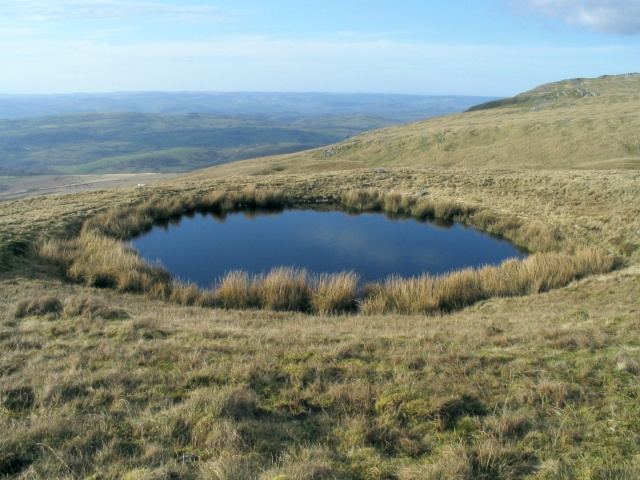 Pool in a sinkhole on Twyn Swnd