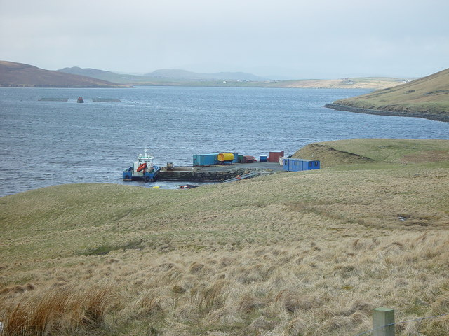 Pier at Gon Firth, Shetland