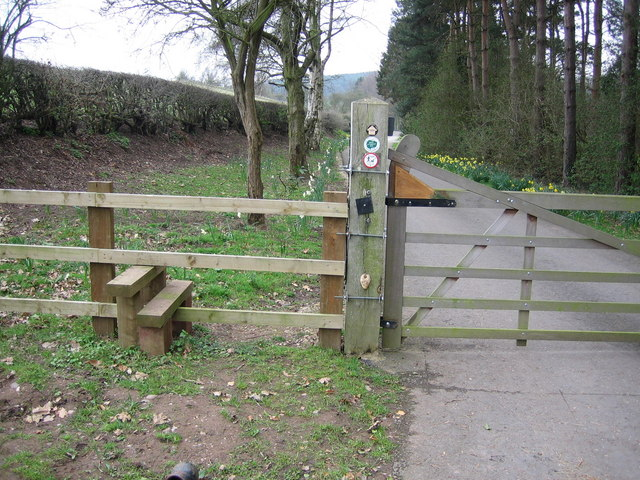 Stile near the old A5