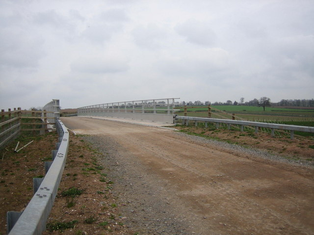 Bridge over the new A5.