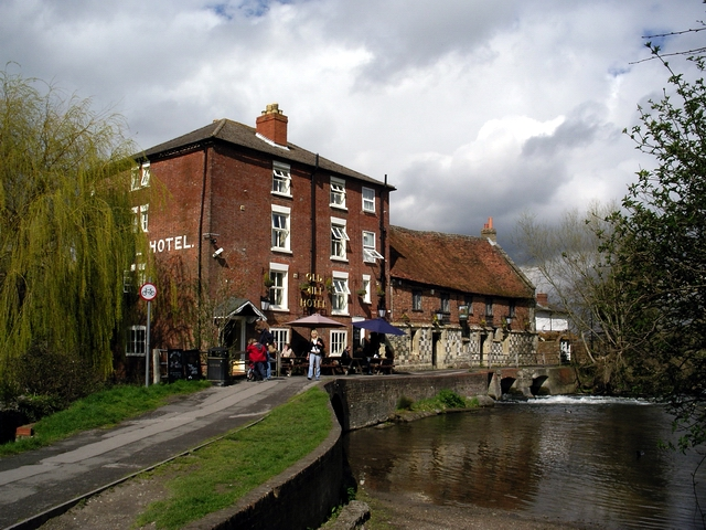 Old Mill Hotel and the mill, Harnham