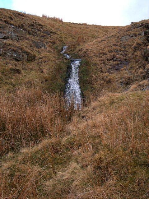 Waterfall in the Nant y Ffynnon near Claerddu