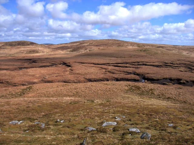 The source area of the Nant Milwyn