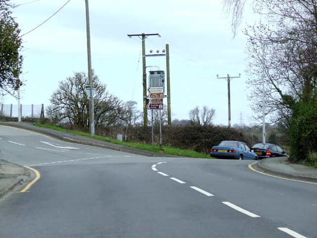 Road junction north of Llangefni