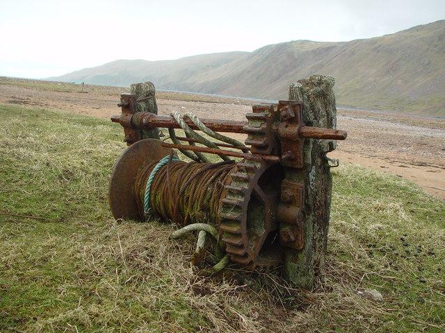 Abandoned Winch, Heylor, Shetland