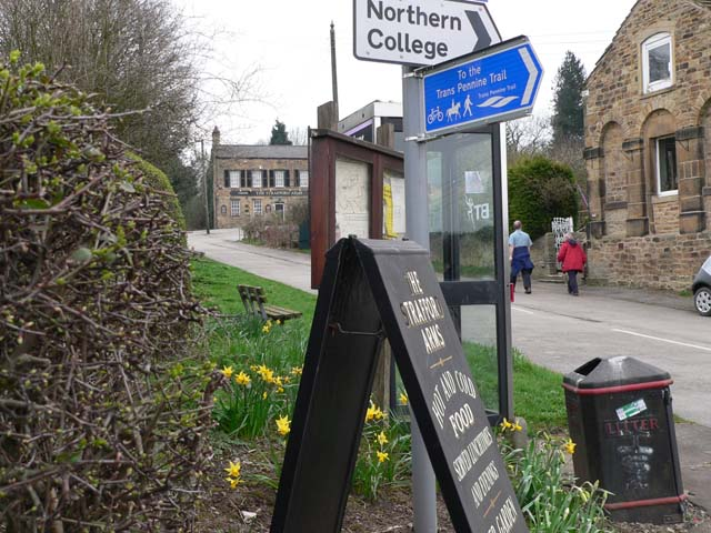 Approach to the Strafford Arms, Stainborough Village
